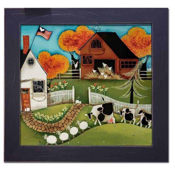 Blakeley Wilson, American Folk Art painting,
