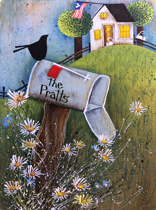 Blakeley Wilson, American Folk Art painting,