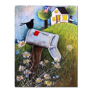 Blakeley Wilson, American Folk Art, of old mail box with familyname