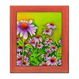 Blakeley Wilson American Folk Art Painting Cone Flowers in Afternoon panel 1