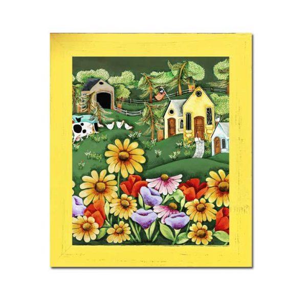 Blakeley Wilson american folk art painting flowers in the Spring